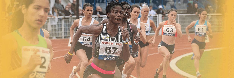 Läuferinnen auf Tartanbahn